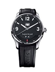 Inexpensive!! Louis Erard Men's 82224AA02.BDE09 1931 Automatic Black Rubber Power Reserve Date Watch USA Sale