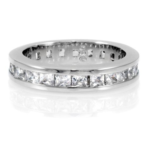 Grace's Channel Set CZ Eternity Pinky Ring