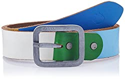 Covo Blue Leather Men's Casual Belt (BJ40CA10038)