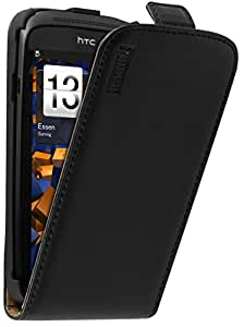 mumbi PREMIUM Leder Flip Case HTC One S Tasche
