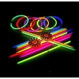 1000 GloSticks / Glow Sticks / Glowstick+ 1000 Connectors,5-7 colour mix.