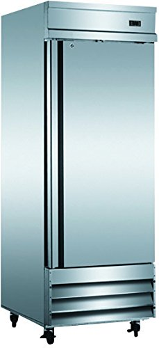 """29"""" Upright Stainless Steel Single 1 Door Commercial Freezer, CFD-1FF, 23 Cubic Feet, for Restaurant"""