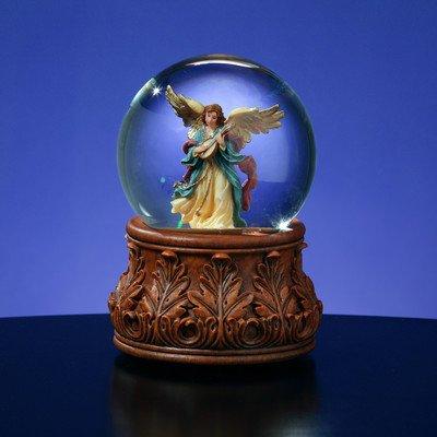 Angle Playing Mandolin Water Globe