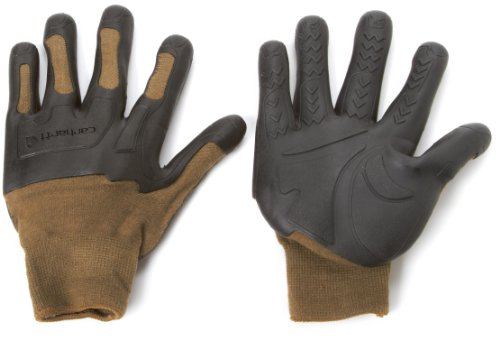Carhartt Men's C-Grip Knuckler High Dexterity Vibration Reducing Glove, Army, Large/X-Large