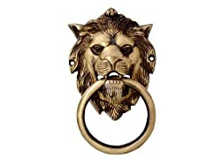 SmartShophar Door Knocker 6.5 Inches Gold Finish Lion Mouth [Kitchen & Home]
