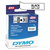 D1 Standard Tape Cartridge for Dymo Label Makers, 3/4in x 23ft, Black on White - Sold As 1 Each