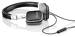 Harman Kardon SOHOa BLK Premium Flat-On Ear Mini Headphones with Universal Remote (Black)