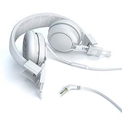 JLab INTRO Premium On-Ear Headphones with Universal Mic (White)