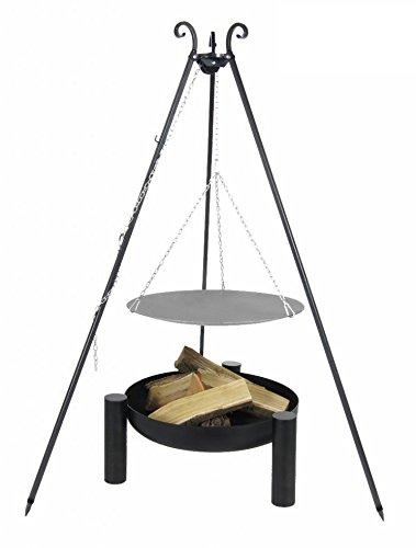 Lagerfeuerpfanne 56 cm auf Dreibein, inkl. Feuerschale # 38, 60 cm bestellen