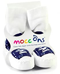 Mocc Ons Clever Socks Sneaker (18-24M / 5 1/8\