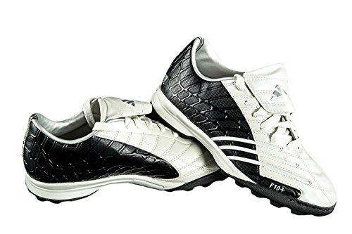 Scarpe calcio ADIDAS F10+ TRX TF JR bianco nero con tacchetti N.35 X2307