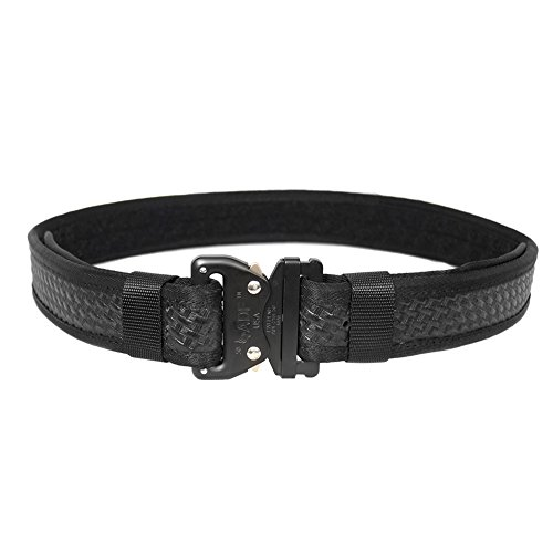 Fusion Tactical Military Police Security Guard Patrol Belt Basket Weave Black Medium 33-38