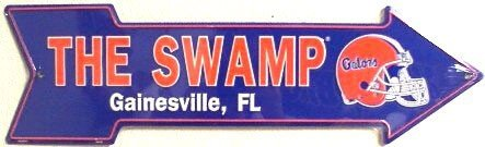 010 The Swamp Gainesville FL Gators Sign - AS25007