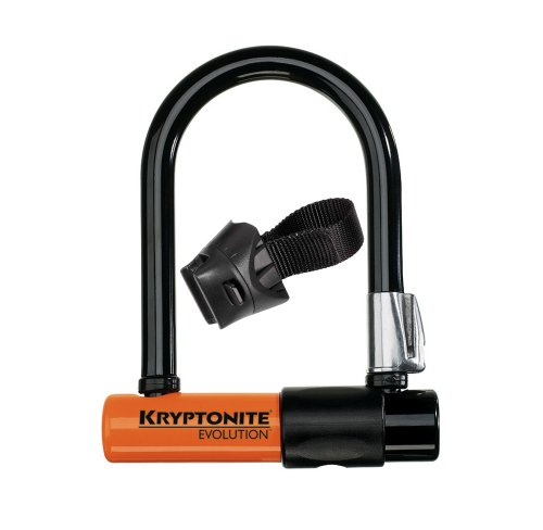 Kryptonite Evolution Mini-5 Bicycle U-Lock with Transit FlexFrame Bracket (3.25-Inch x 5.5-Inch)