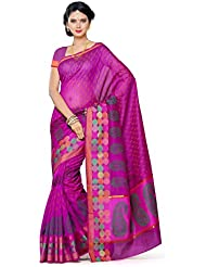 Mimosa Women's Traditional Art Silk Saree Kanjivaram Style With Blouse Color:Mejantha(3295-AB-1432-BLP-MEJ )