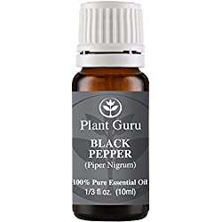 Black Pepper Essential Oil. (Piper Nigrum) 10 ml. 100% Pure, Undiluted, Therapeutic Grade.