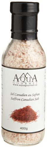 Aqua Gourmet Saffron Canadian Salt, 400-Grams (Pack of 3)