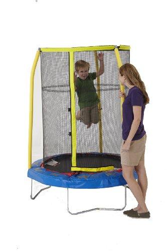 Bazoongi-Elephant-Trampoline-with-3-Poles-Enclosure-System-55-Inch