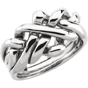 Sterling Silver Gents Puzzle Ring
