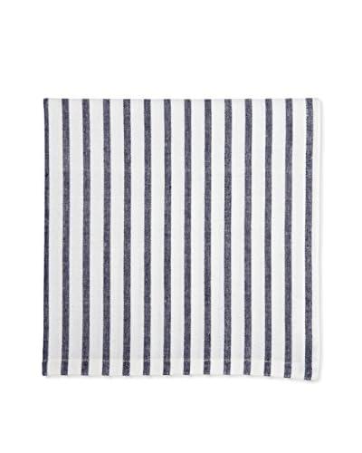 Lene Bjerre Affair Stripe White & Dark Blue Napkin
