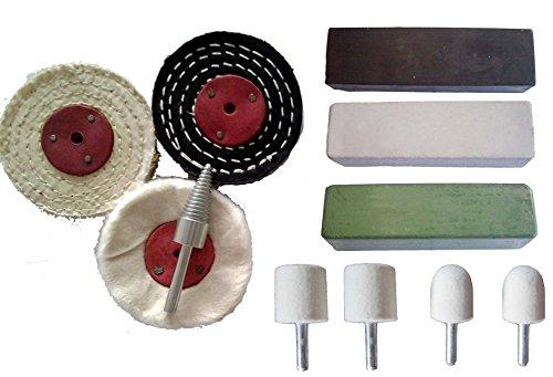 11pc Stainless Steel Polishing Buffing Kit Ferrous Metal Polishing Kit