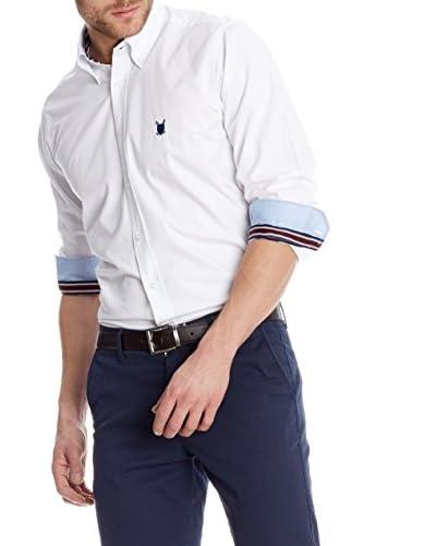 Polo Club Camisa Hombre Fitted Escudo Blanco