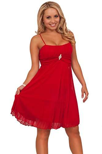 Hot from Hollywood Womens Spaghetti Strap Pleated Accent Sweetheart Party Dress