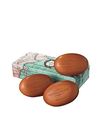 Caswell-Massey Sandalwood Woodgrain Soap 3-Piece Set