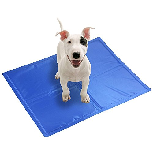 Kingstar Pet Chilly Gel Mat Pads, Folding Soft Comfort Bed Self Cooling Pad for Dogs Cats,Small (40*50cm)