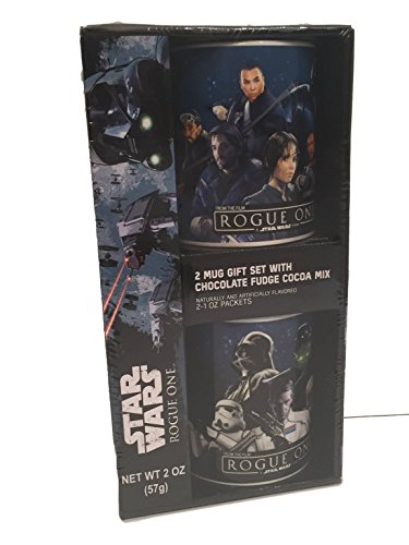 Star Wars Rogue One Chocolate Fudge Cocoa Mix with 2 Mug Gift Set