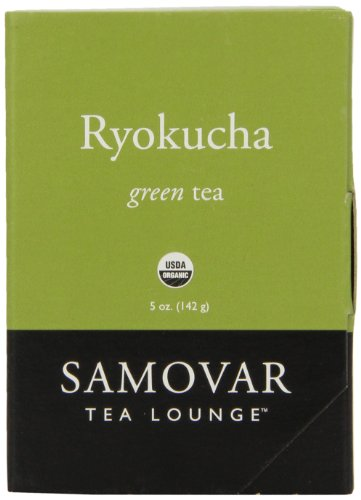 Samovar Tea Lounge Organic Green Tea, Genmaicha Ryokucha, 5 Ounce