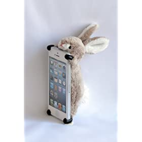 【 iPhone 5 / 5s / 5c 用カバー 】 ZOOPY ウサギ [ au / docomo / SoftBank ]