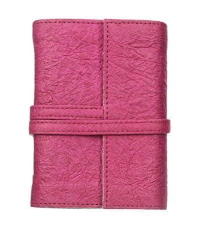 Marina Vaptzarov Small Vegetal Leather Cover Travel Diary, Fuchsia As You See