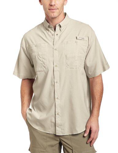Columbia Men's Tamiami II Short Sleeve Fishing Shirt (Fossil, X-Large)