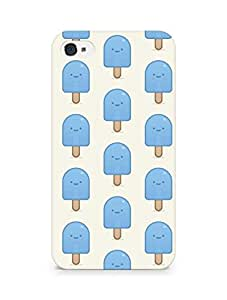 Amez designer printed 3d premium high quality back case cover for Apple iPhone 4s (blue popsicle)