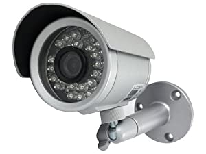 Aposonic A-CDBI03 480 TV Lines MAX Resolution Day and Night CCTV Surveillance Indoor and Outdoor IR Camera - Silver
