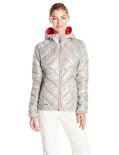 Outdoor Research - Piumino da donna Women' s Filament Hooded Jacket, Donna, alloy/flame, L