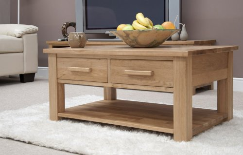 Opus Oak 3 x 2 Coffee Table With Drawers