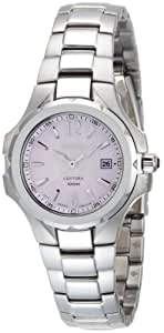 Seiko Women's SXDB65 Coutura Silver-Tone Pink Mother Of Pearl Dial Watch