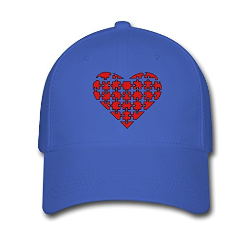 SEC-lulu youthful Heart Puzzle unisex Adjustable Baseball CapOne Size0Royal Blue