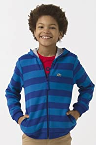 Boy's Full Zip Stripe Sweatshirt