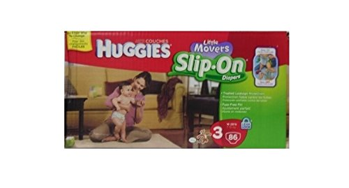 Huggies Little Movers Slip on Diapers 16-28lbs, 86count - 1