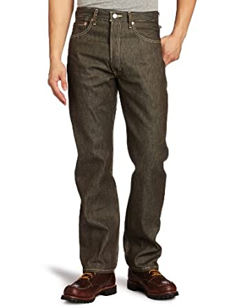 Levi's Men's 501 Shrink To Fit Jean, Brown Rigid STF, 34x34