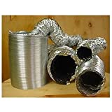 12 Inch Non-Insulated Flex Duct, 25 Foot