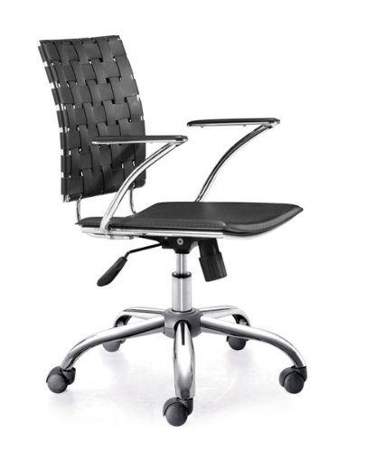 Leatherette Office Chair - Criss Cross Office Chair - Zuo Modern - 205030