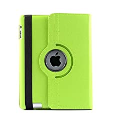 AE 360 Rotating PU Leather Stand Case Cover For Apple ipad Air 5th Gen New Green