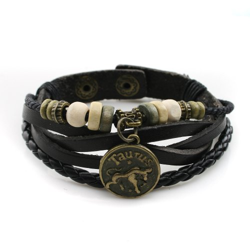 lucky-handmade-natural-constellation-zodiac-sign-logo-genuine-real-leather-bracelet-with-charms-bead