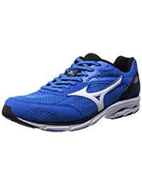 Mizuno Running Shoes Wave Aero 14 Wide (Blue / Silver / Black) J1gc153603