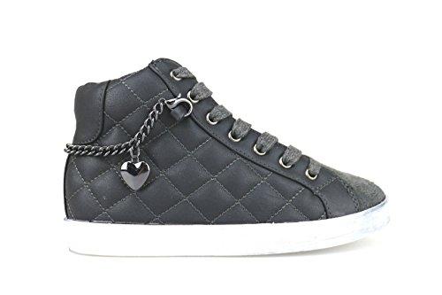 LULU' sneakers bambina grigio pelle / camoscio AH224 (30 EU)