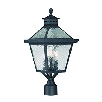 Acclaim 7677BK Bay Street Collection 3 Light Post Mount